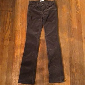 Loft Modern Boot Corduroy Brown Pants Size 0 25